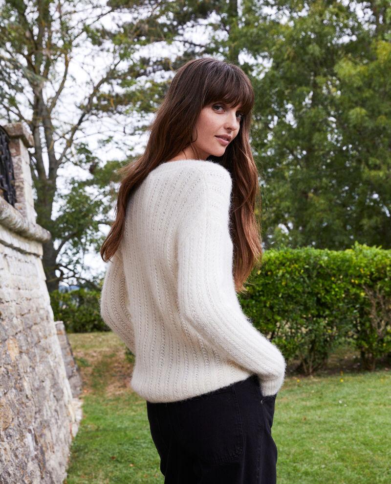 Pullover aus Zierstrick Buttercream Joupy