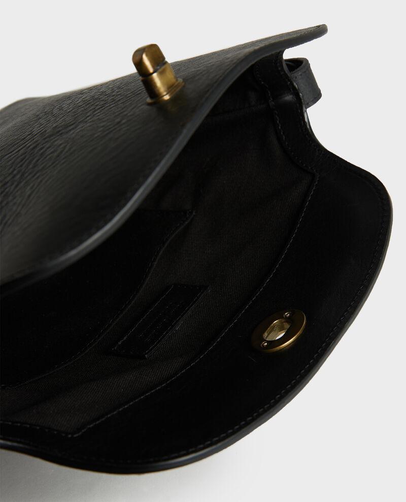Lederhandtasche mit kurzem Schultergurt Black beauty Lidylle