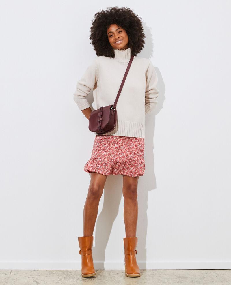 Kurzer Wickelrock aus Seide Art deco pink Palongue