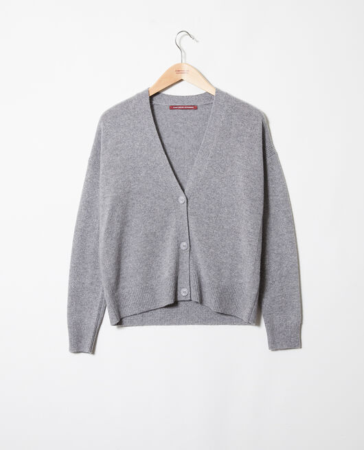 Cardigan aus Kaschmir LIGHT GREY