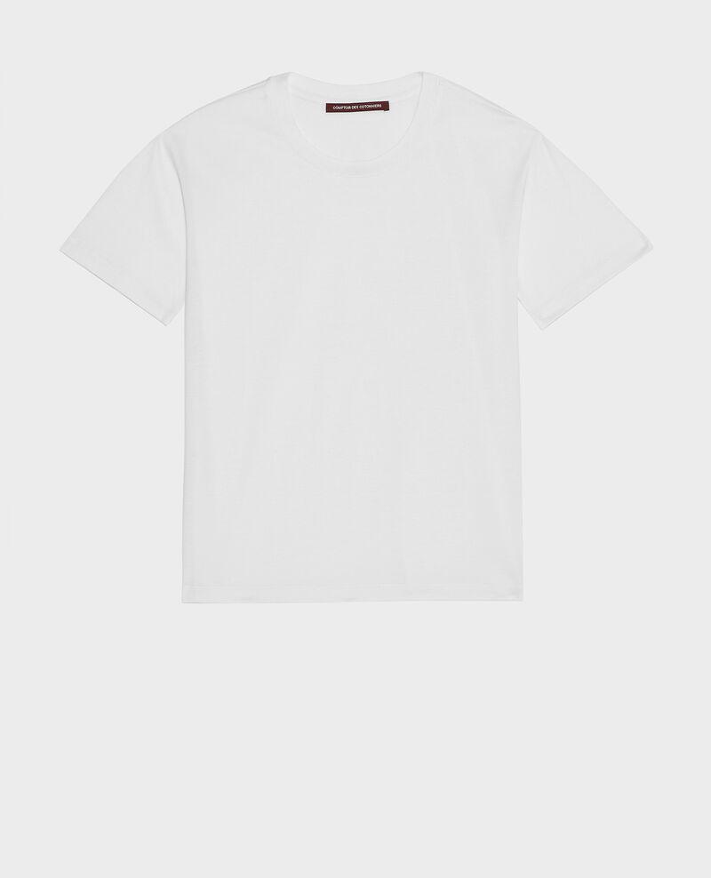 Kurzärmeliges T-Shirt aus Baumwolle mit Rundhalsausschnitt Optical white Lirous
