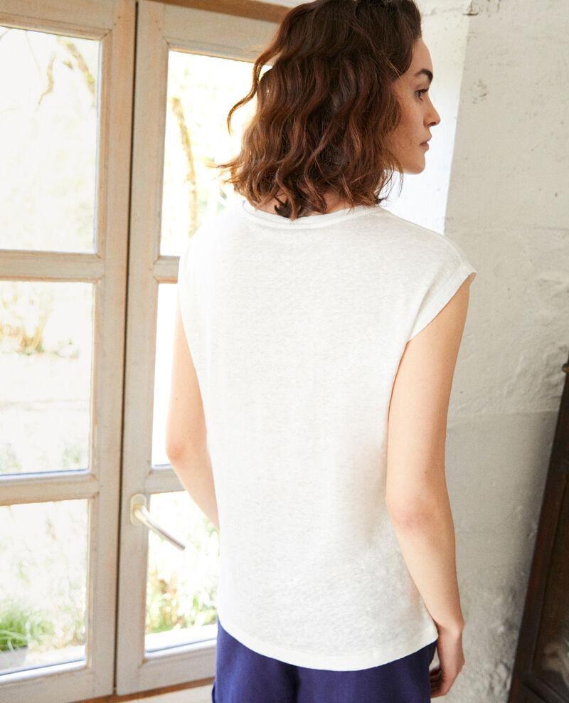 Leinen-T-Shirt, bestickt Off white Imomo