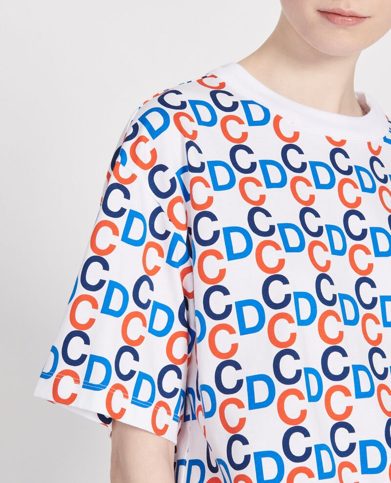 T-Shirt mit CDC-Print aus Baumwolle Optical white Lenoy