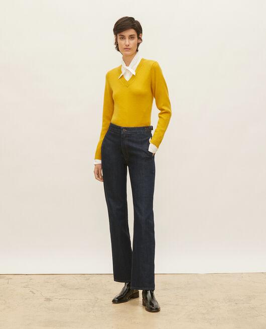 Weite Jeans aus Denim mit dunkler Waschung DENIM RINSE