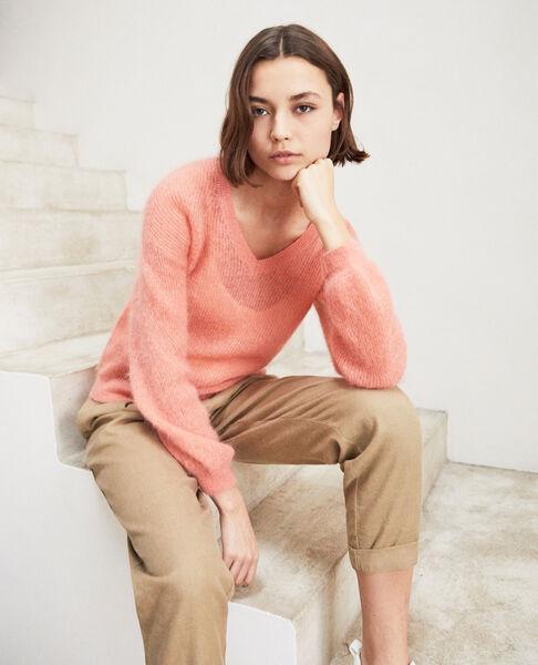 Comptoir des Cotonniers - pullover mit v-ausschnitt mit mohair - 6