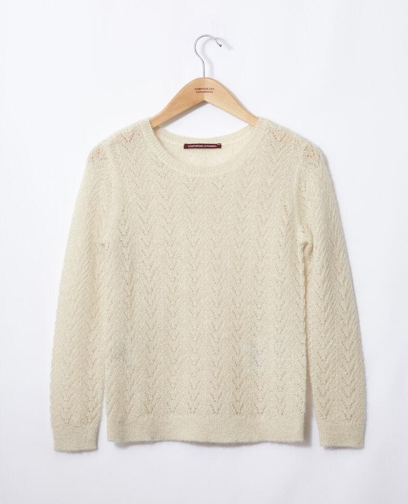 Pullover mit Mohair und Lurex Off white Gigogne
