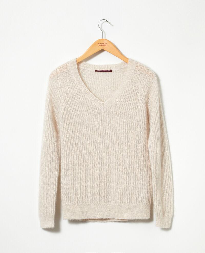 Pullover mit Mohair und Lurex Silver gray/off white/lurex Getoile