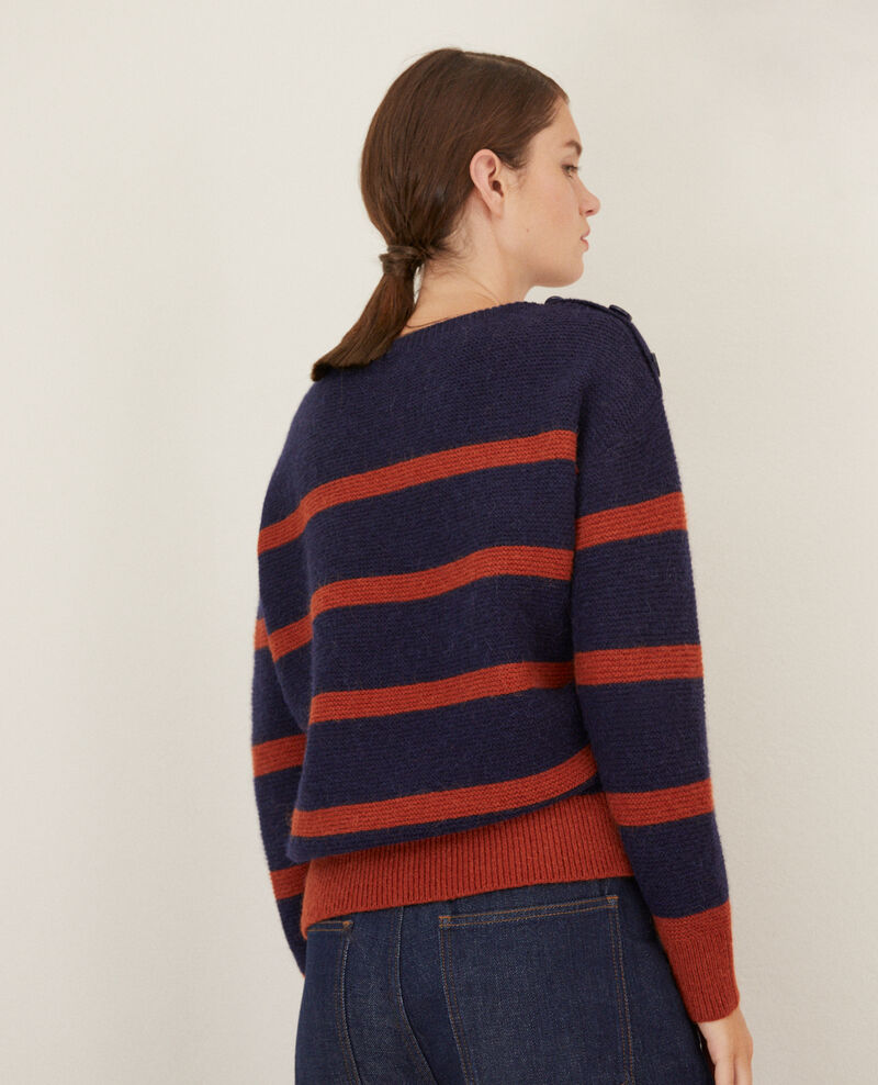 Pullover mit U-Boot-Ausschnitt Peacoat/picante Gipsy