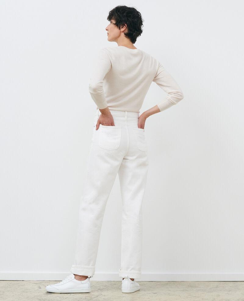 Pullover mit Rundhalsausschnitt aus Wolle Gardenia Passy