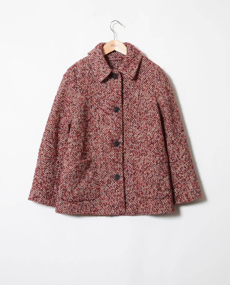 Tweed-Mantel Red melange Jiarritz