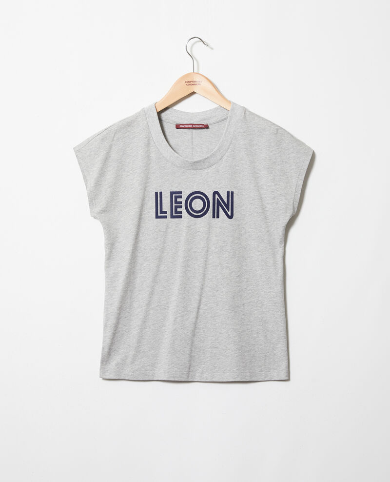 "T-shirt ""Léon"" Heather gr/navy Ithera"