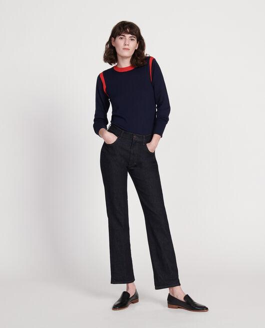 Gerade geschnittene Jeans aus Denim mit dunkler Waschung DENIM RINSE