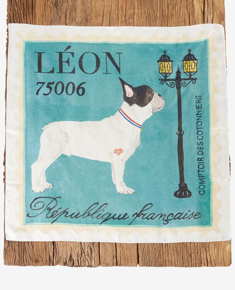 Seidentuch mit Leon-Motiv Off white Felicite