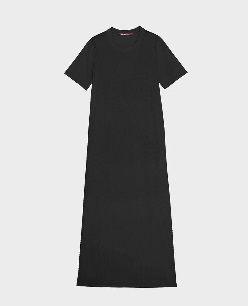 Langes Kleid aus merzerisierter Baumwolle Black beauty Larosata