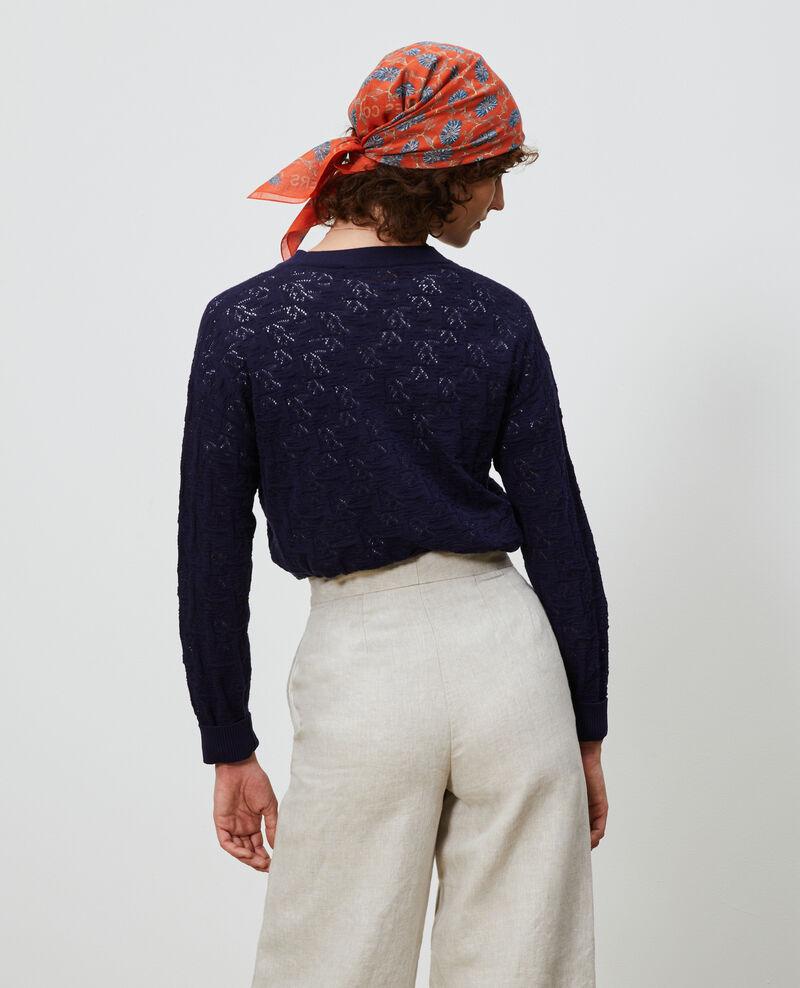 Cardigan aus Baumwolle und Leinen Maritime blue Lafiora