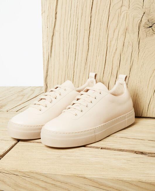 Plateau-Sneakers Beige