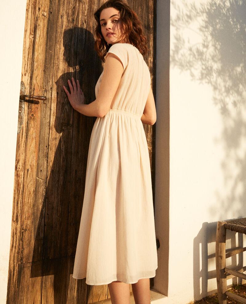 Halblanges Kleid Linen/white Idem