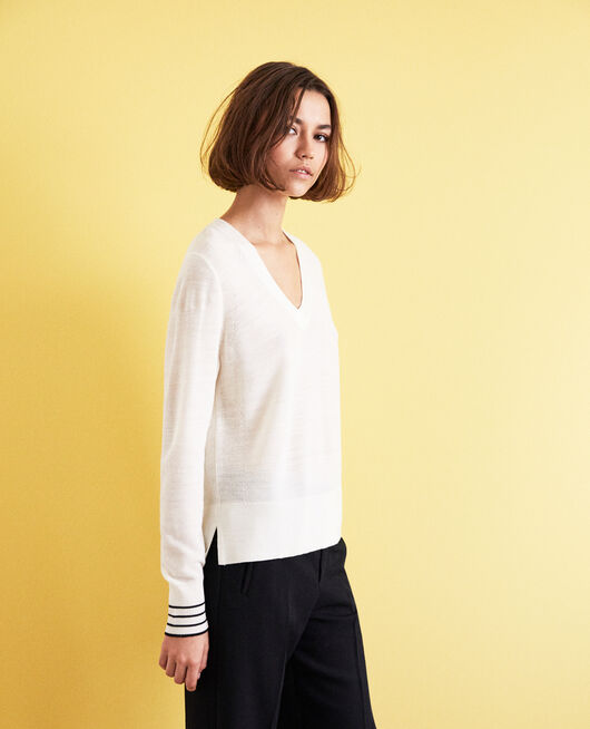 Pullover aus Wolle OFF WHITE