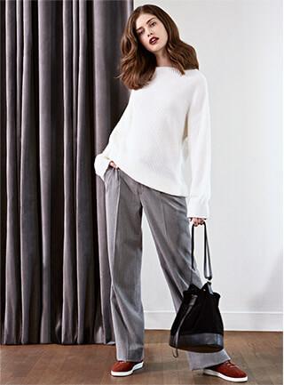 Look - Pullover aus Wolle und Alpaka, Hose