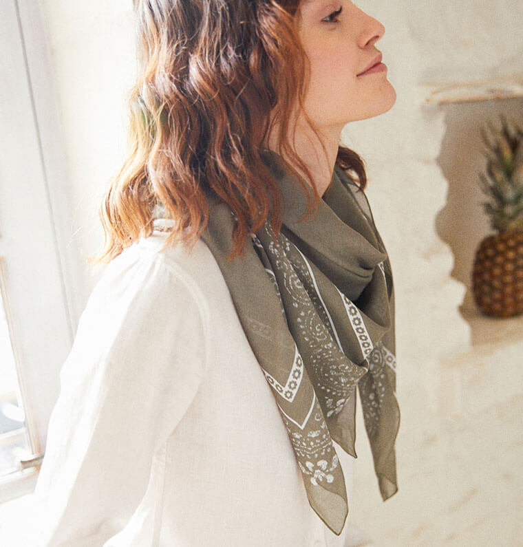 Foulards femme et écharpes