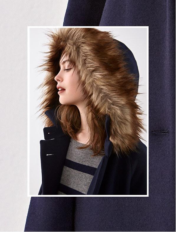 Look - Mantel aus Wolle, Kaschmir-Pullover