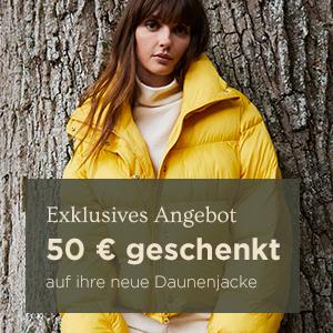 50€ geschenkt auf ihre neue Daunenjacke