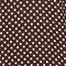 Weites Seidenkleid Little pois coffee bean Megrisa