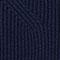 Pullover mit Stoffeinsätzen unten 100% Merinowolle Navy Janet
