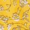Kurzer Rock aus Leinen Indie-small-yellow Nabios