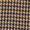 Ausgestellter Mantel aus Tweed-Wolle Houndtooth-latte Magnan