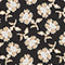 Langärmlige Bluse mit Blumenprint Print fleurettes black latte Manrant