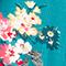 Midi-Rock Fleurs pacific green Fidji
