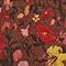 Kurzer ausgestellter Seidenrock mit Flowerprint Print eden tortoiseshell Maurau