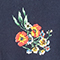 Bluse mit Pyjamakragen Fleurs navy Fashiona