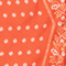 Seidentuch in Rautenform Spicy orange Nandana