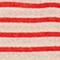 T-Shirt aus Leinen Stripes buttercream fiery red Logron