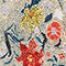 Kurzer ausgestellter Seidenrock mit Flowerprint Print eden cream Maurau